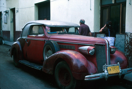 photograph of old car in Cuba
