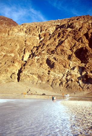 Salt flats in Death Valley.