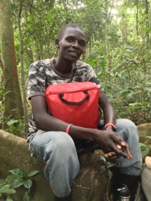 Our field guide Nelson with our First Aid kit.