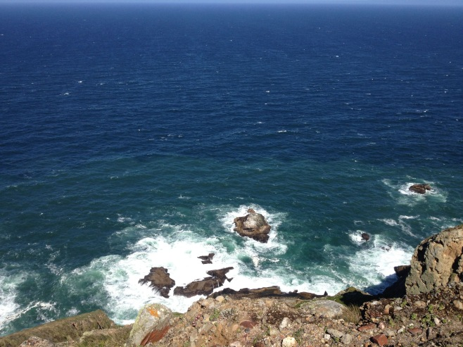 A view of the Pacific Ocean from the Point Reyes Lighthouse.