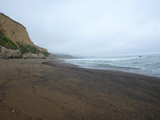 The beginning of our trek, a nine-mile round-trip walk to find the secret beaches and caves.